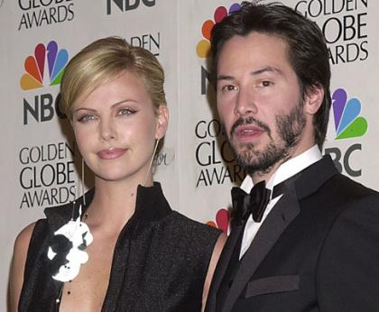 Lux - Charlize Theron e Keanu Reeves prestes a assumir o namoro