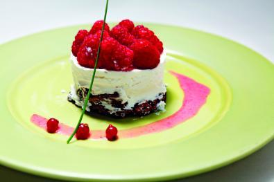 Cheesecake de Framboesa e Hortelã