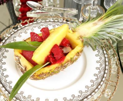 Sorvete de Framboesas Frescas com Ananás (Lux)