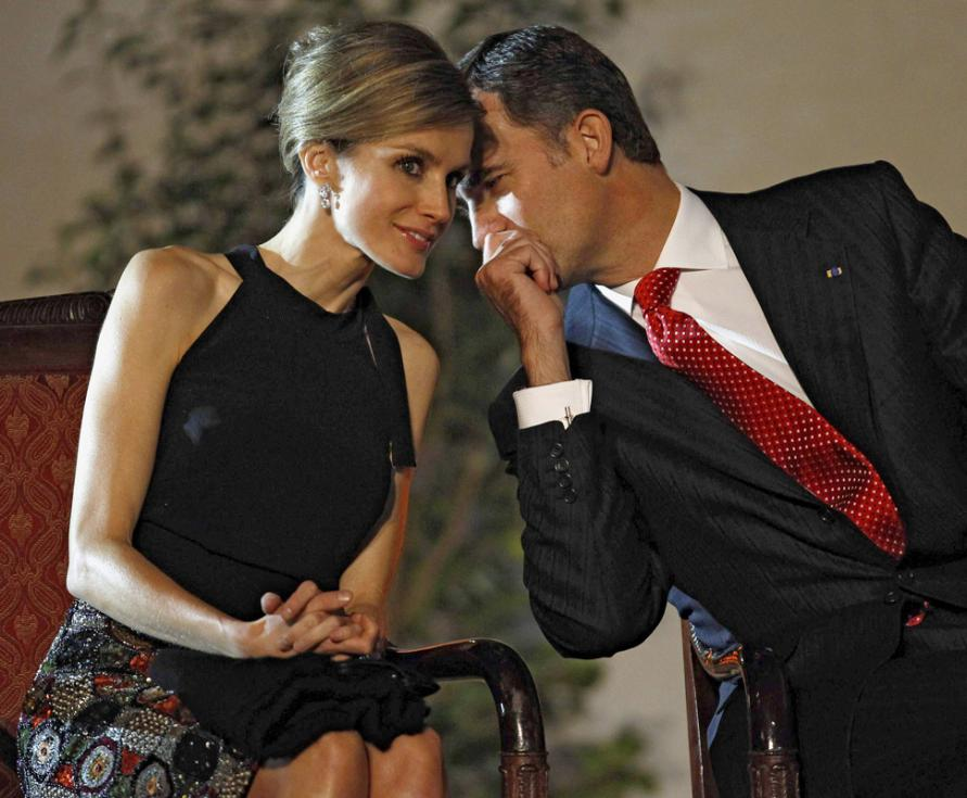 Princesa Letizia e Príncipe Felipe no Chile (Reuters)