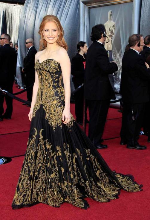 Jessica Chastain - Oscar 2012 - 84ª edição de entrega de prémios da Academia de Hollywood Foto: Reuters