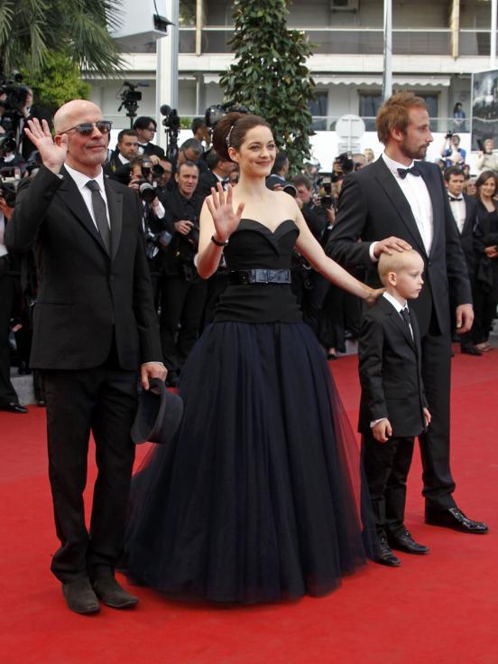 Audiard, Matthias Schoenaerts , Armand Verdure e Marion Cotillard - 65º Festival de Cannes - «De rouille et d`os» Foto: Reuters