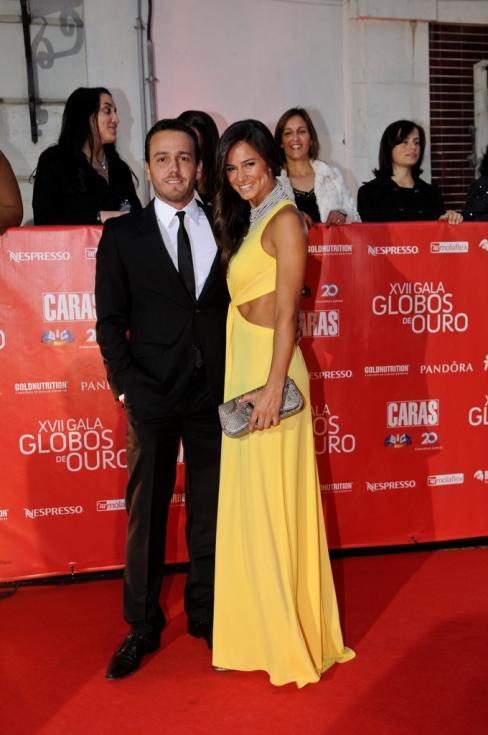 Pedro Teixeira  e Cláudia Vieira  -17ª Gala dos Globos de Ouro Foto: Tiago Frazão Lux