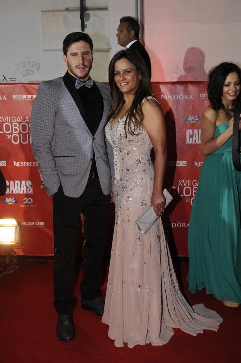 Diogo Bragança e Carla Baía - 17ª Gala dos Globos de Ouro Foto: Tiago Frazão/Lux