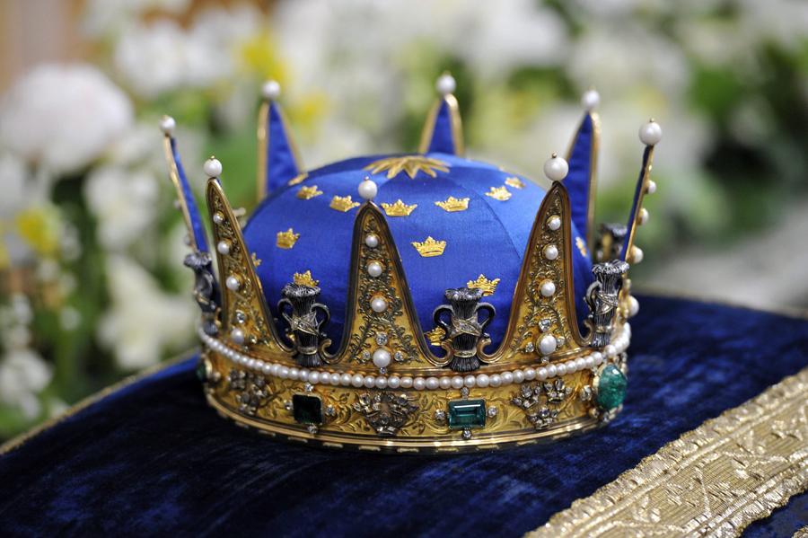 Coroa real - Batizado da princesa Estelle da Suécia Foto: Lusa