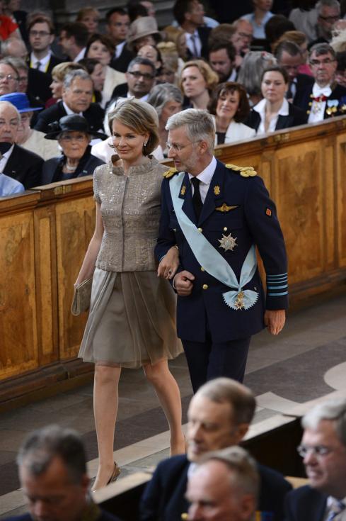 Philippe e Matilde da Bélgica - Batizado da princesa Estelle da Suécia Foto: Lusa