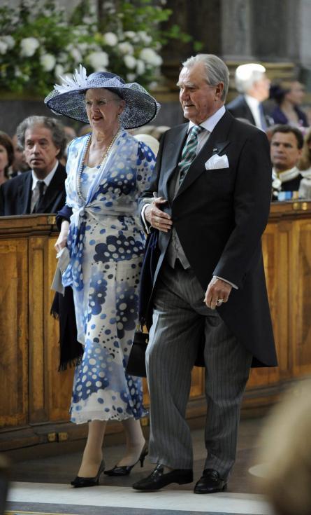 Rainha Margarida e príncipe Henrique da Dinamarca - Batizado da princesa Estelle da Suécia Foto: Lusa