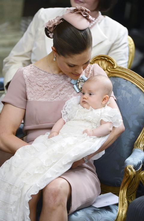 Batizado da princesa Estelle da Suécia Foto: Reuters