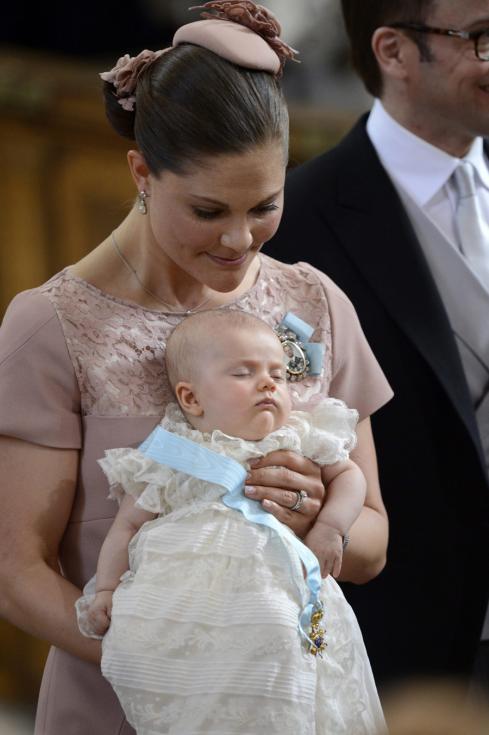 Batizado da princesa Estelle da Suécia Foto: Lusa