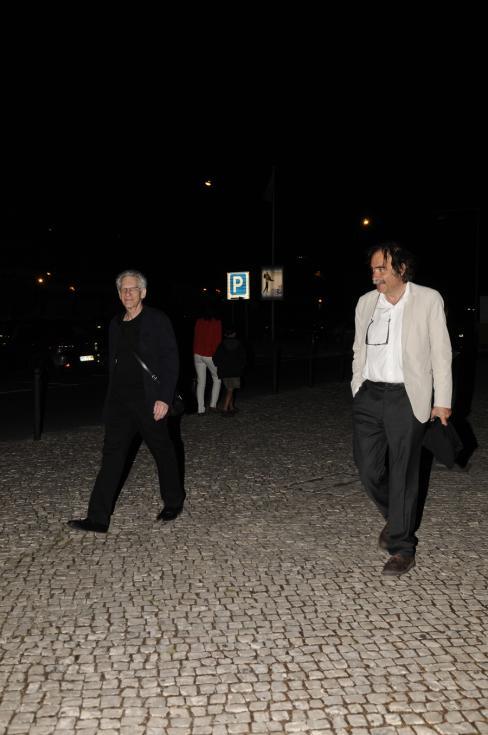David Cronenberg e Paulo Branco - Apresentação do filme «Cosmopolis» em Lisboa Foto: Tiago Frazão/Lux