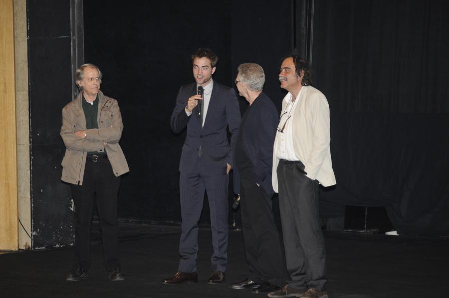 Don DeLillo, Robert Pattinson, David Cronenberg e Paulo Branco - Apresentação do filme «Cosmopolis» em Lisboa Foto: Tiago Frazão/Lux