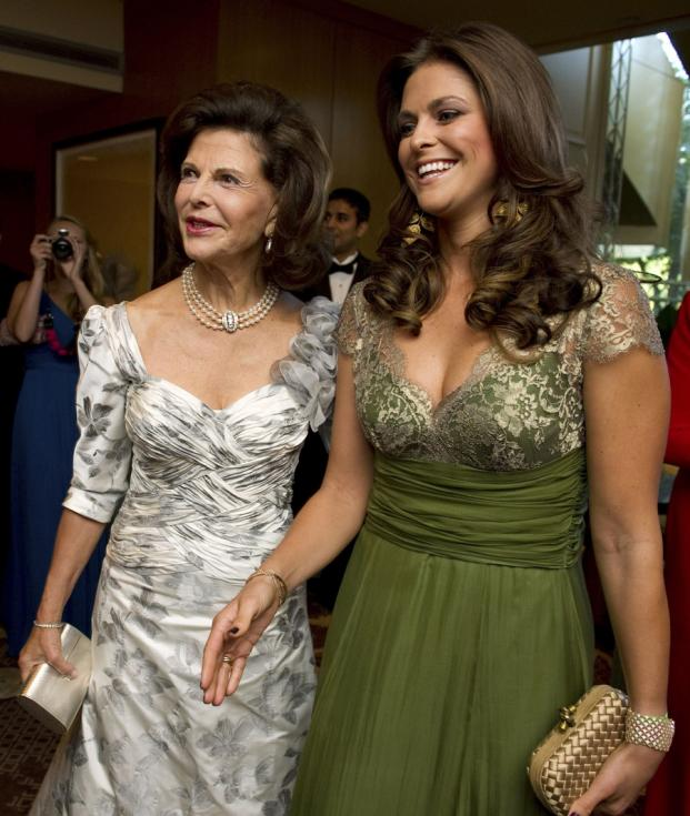 Rainha Sílvia e Madalena da Suécia - Gala International EUA no Hotel Four Seasons em Washington Foto: Reuters