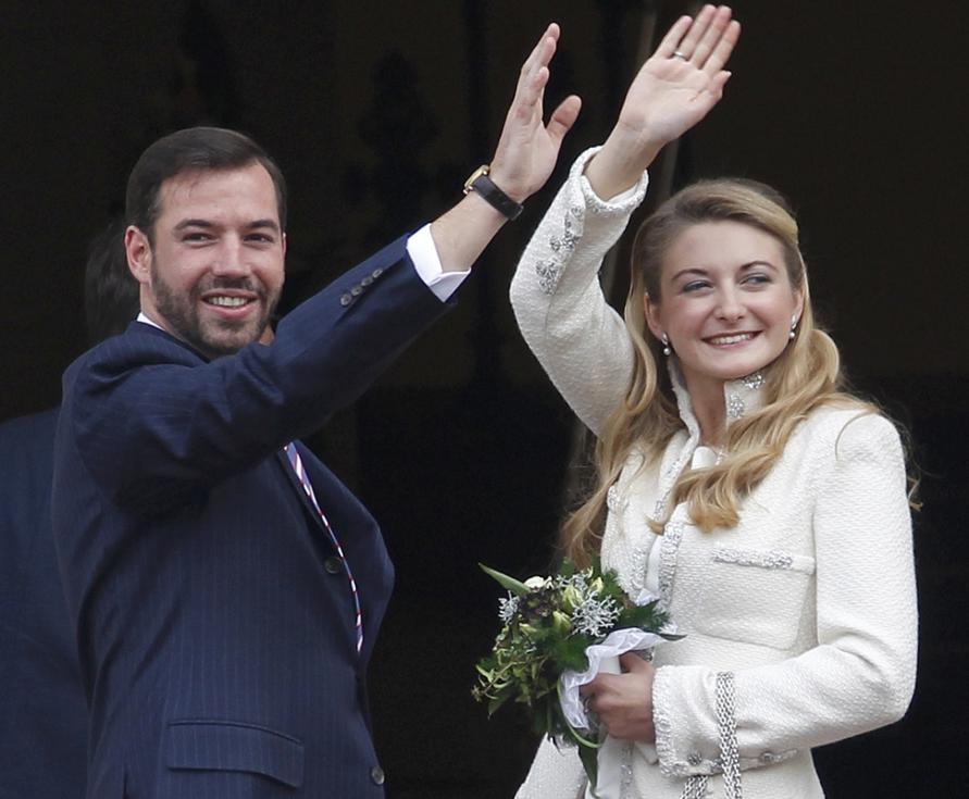 Casamento civil de Guilherme do Luxemburgo e Stéphanie de Lannoy Foto: Reuters