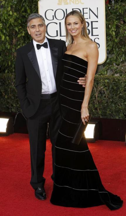 George Clooney e Stacy Keibler - 70º Globos de Ouro Fotos: Reuters