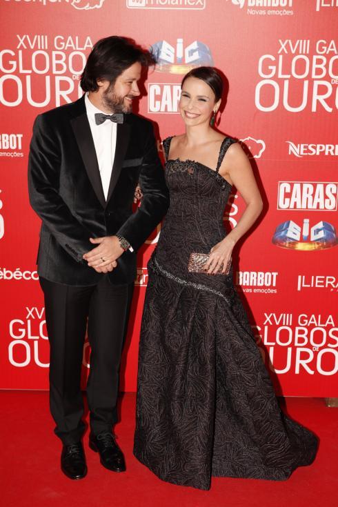 Murilo Benício e Débora Falabella - Globos de Ouro 2013 Foto: João Cabral/Lux
