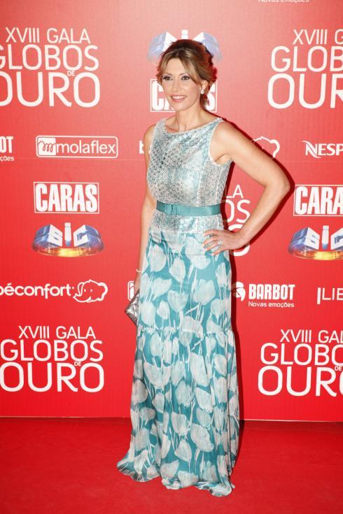 Clara de Sousa - Globos de Ouro 2013 Foto: João Cabral/Lux