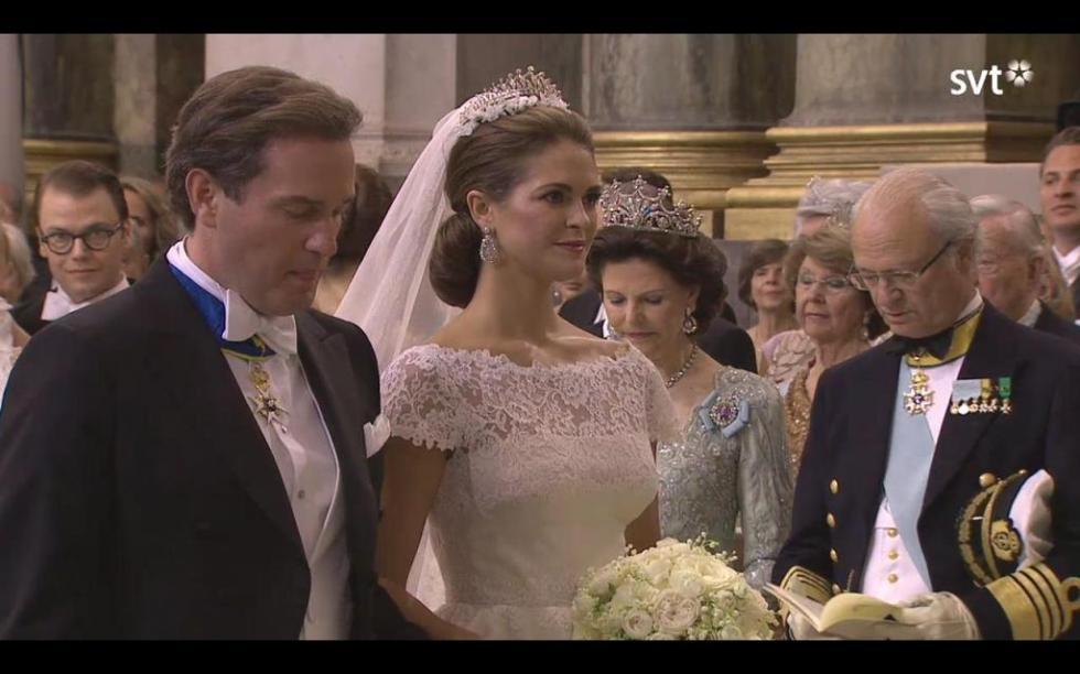 Casamento da princesa Madalena e Chris O`Neill Foto: Reprodução SVT