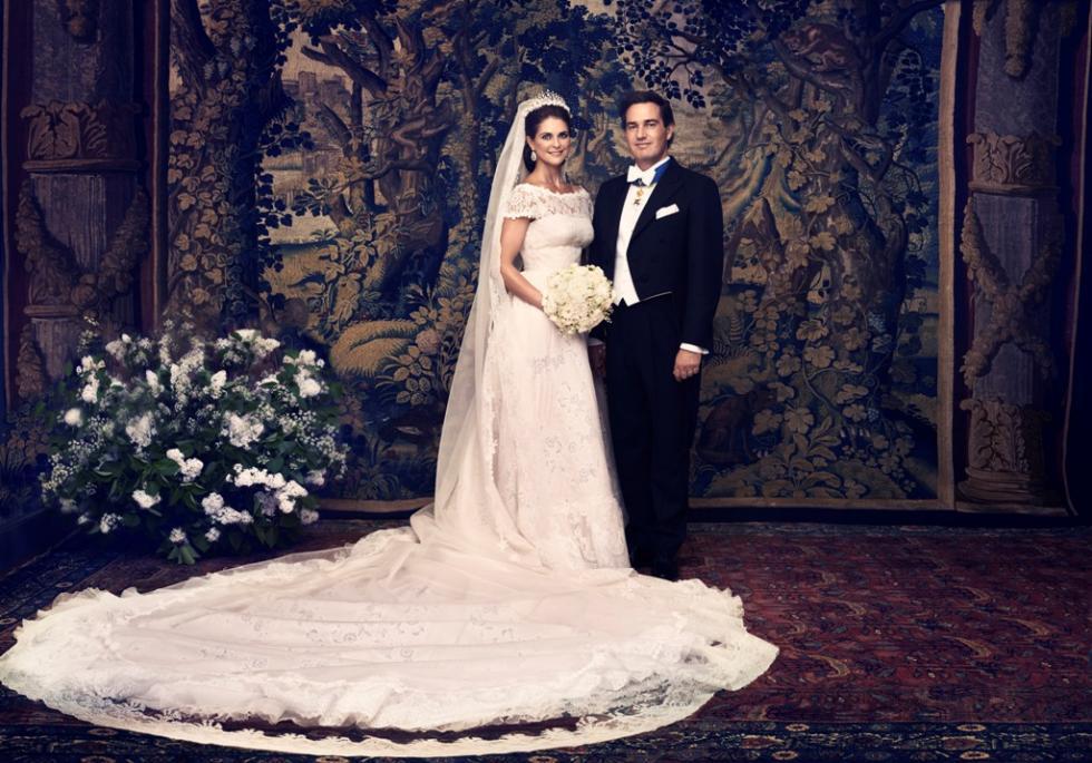 Fotos oficiais de casamento da princesa Madalena e Chris O`Neill Foto: Ewa-Marie Rundquist/Kungahuset.se